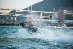Jetski wave Jumping Royalty Free Stock Photography