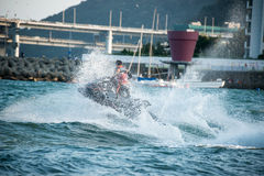Jetski wave Jumping Royalty Free Stock Photos