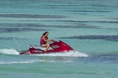 Jetskiing в Тобаго Стоковое Изображение