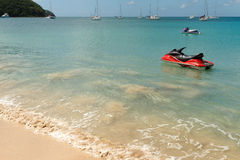 Jetskis On Caribbean Turquoise Water Stock Photography