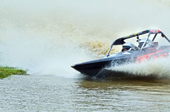 Jetsprint jetboat racing speed boat racing high speed to finish Stock Images