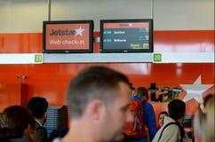 Jetstar空中航线 免版税图库摄影