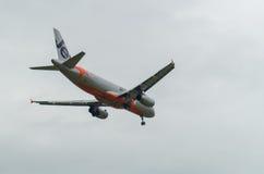Jetstar Airbus A320 à Melbourne Tullamarine Images stock
