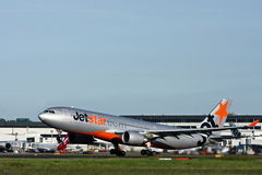 Jetstar Airbus A330 taking off. Australian airline Jetstar Airbus A330 aircraft taking off from Sydney airport Stock Photos
