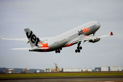 Jetstar Airbus A330 taking off. From Sydney airport Stock Photos