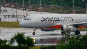 Jetstar Airbus 320 taxiing stock video