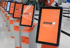 Jetstar airline check in Stock Photo