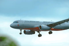 A jetstar airplane Royalty Free Stock Photography