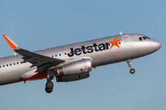 Jetstar Airways Airbus A320 airliner taking off from Sydney Airport. Stock Images