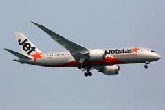 Jetstar Airways Boeing 787 Dreamliner airplane Royalty Free Stock Images