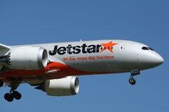 Jetstar All Day, Every Day, Low Fares. Stock Image