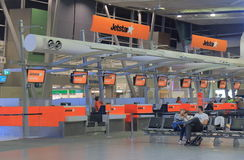 Jetstar check in counter Sydney Airport Australia Royalty Free Stock Images