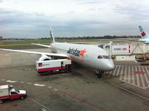Jetstar Dreamliner Stockfotos