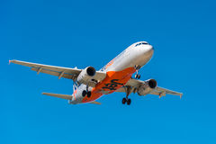 Jetstar passenger airliner coming in to land Stock Image