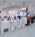 Jetstar self check in Melbourne airport Stock Images