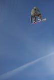 Jetstream Snowboard-Luft Lizenzfreies Stockbild