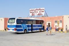 Jett the Jordanian touristic buses company Stock Photography