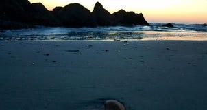 The jetties at dawn. Tybee island north beach jetties Royalty Free Stock Image
