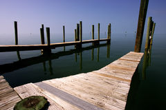 Jetties in key west Stock Images