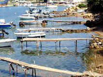 Jetties, Skiathos, Greece. Stock Photos