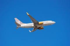 Jettime Boeing 737-7Q8/W décolle de l'aéroport du sud de Ténérife le 13 janvier 2016 Photographie stock