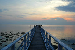 Jetty 1. Jetty at sunset stock photos