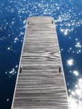 Jetty 1. Portrait photo of wooden jetty in calm water royalty free stock photography
