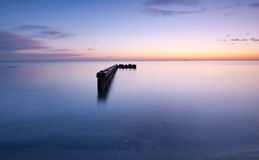 Jetty. Early morning before sunrise Royalty Free Stock Photos