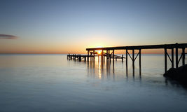 Jetty. At the morning whit sunrise Royalty Free Stock Image
