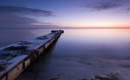 Jetty. A cold winter morning Royalty Free Stock Photography