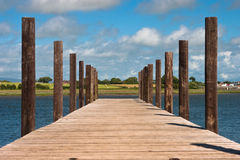Jetty. A Wooden jetty at Skippool Creek Royalty Free Stock Image