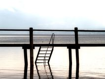 Jetty. On the chiemsee, Bavaria Royalty Free Stock Photo