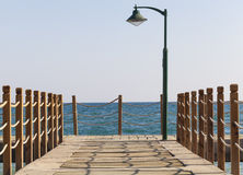 Jetty. Wooden jetty over the sea Stock Photo