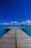 Jetty. A view of the Indian ocean Stock Images