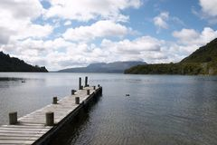 Jetty. A jetty in one of the lakes in the bay of plenty area near Rotorua, New-zealand royalty free stock image