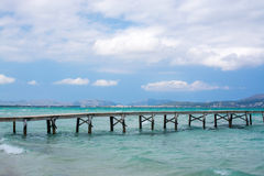 Jetty across the sea Stock Photography