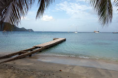 A jetty at admiralty bay, bequia Stock Image