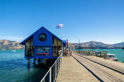 Jetty in Akaroa Stock Photography