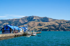 Jetty in Akaroa Royalty Free Stock Photography