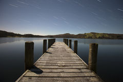 Jetty At Night Royalty Free Stock Photography