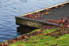Jetty in autumn Royalty Free Stock Photo