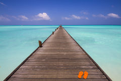 Jetty at the beach Royalty Free Stock Photos