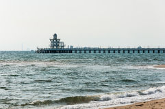 Jetty. At the beach, Rayong, Thailand Royalty Free Stock Images