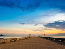 Jetty beach on twilight time Royalty Free Stock Image