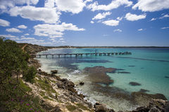 Jetty in beautiful bay Stock Photography