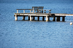 Jetty with bench Stock Photography