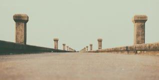 Jetty Bridge. Sea and sky Stock Photography