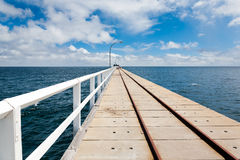 Jetty at Busselton. On the Famous Jetty at Busselton South West WA royalty free stock photo