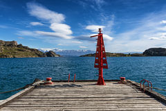 Jetty in Chile Chico Royalty Free Stock Image