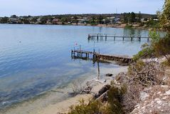 Jetty, Coffin bay. South Australia Royalty Free Stock Images